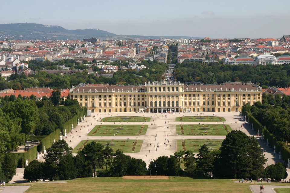 Castello di Schoenbrunn vista panoramica