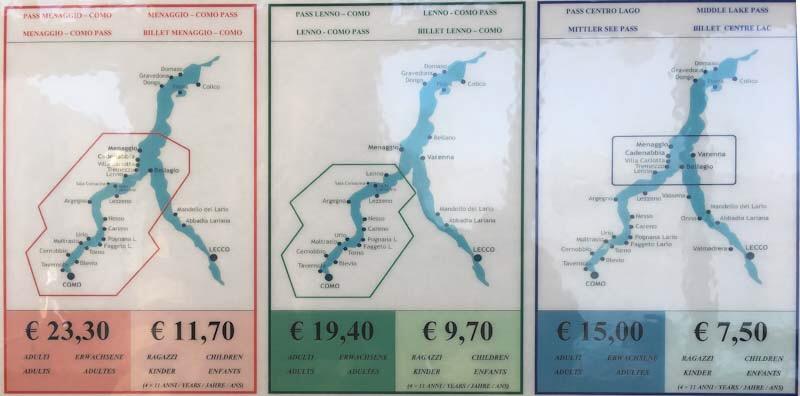Itinerari in battello sul Lago di Como