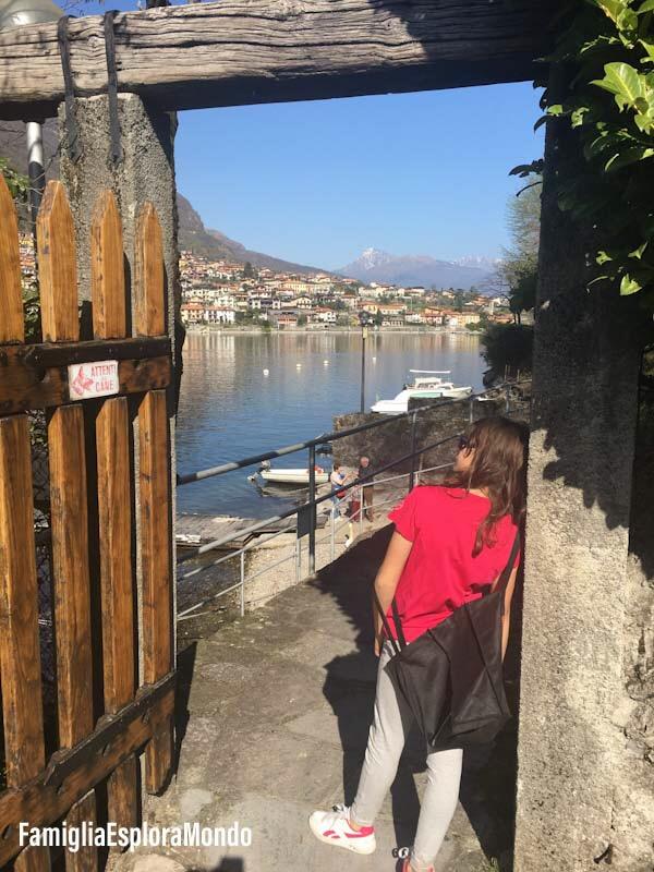 Ingresso ai sentieri turistici di Isola Comacina