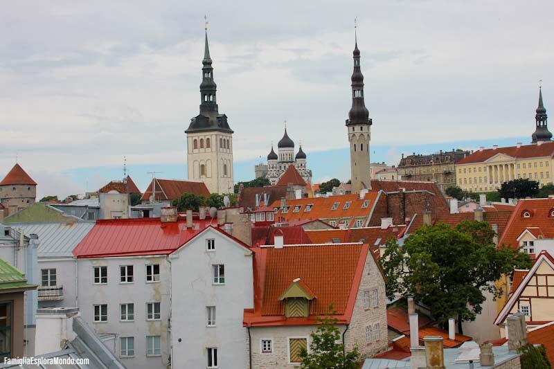 Panorama di Tallin dall'alto del castello