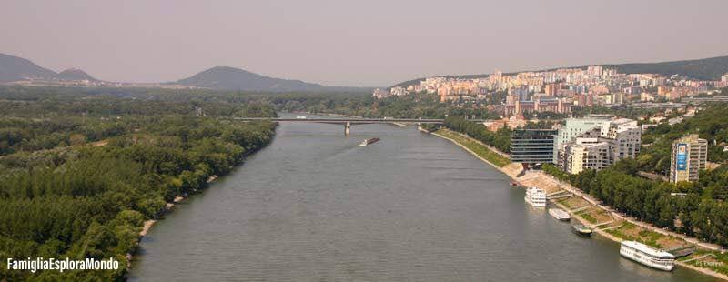 Bratislava panorama dall'UFO