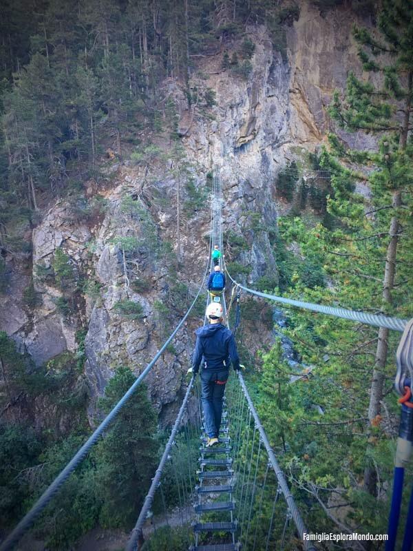 primo tratto del ponte di Claviere: il più difficile da affrontare