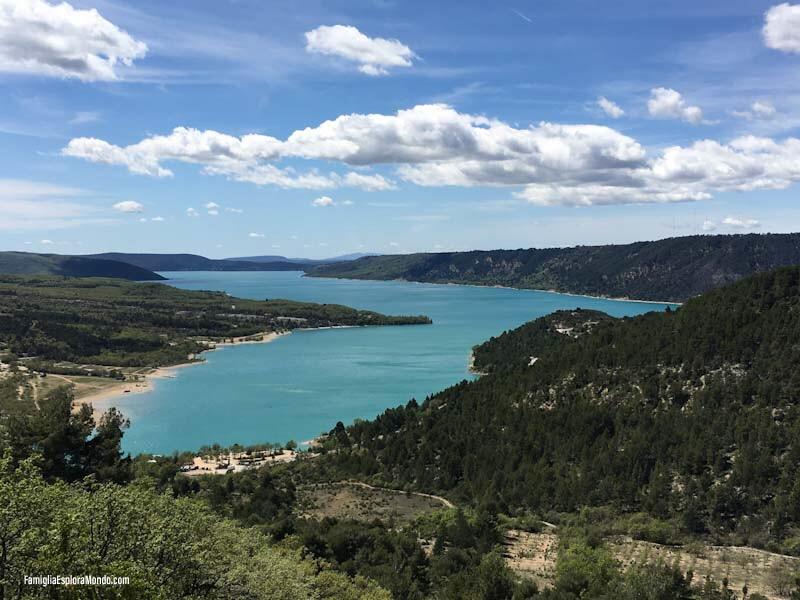 Il Lago di S.te Croix dall'alto