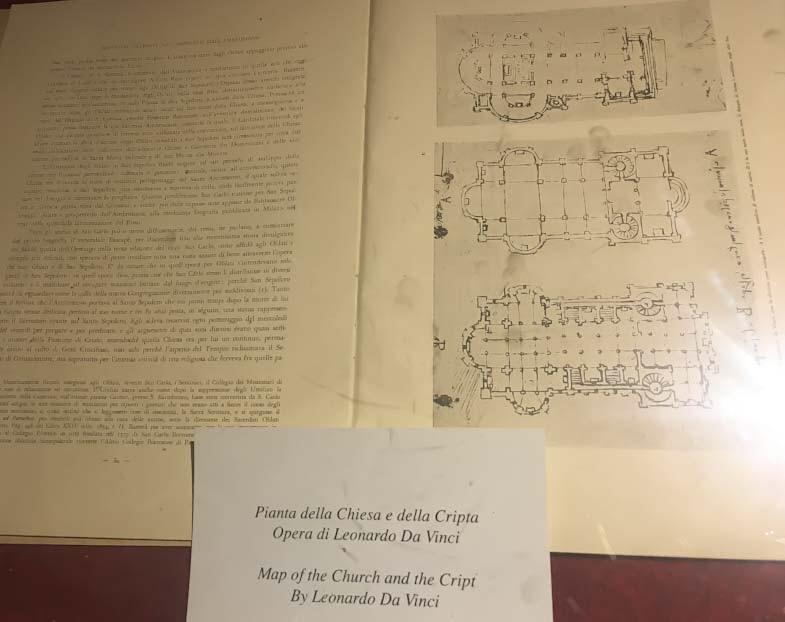 Pianta della Chiesa e della Cripta di San Sepolcro di Leonardo
