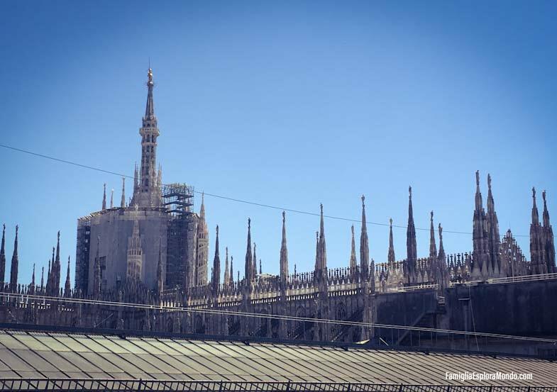Guglie del Duomo di Milano dalla Highline Galleria Vittorio Emanuele II