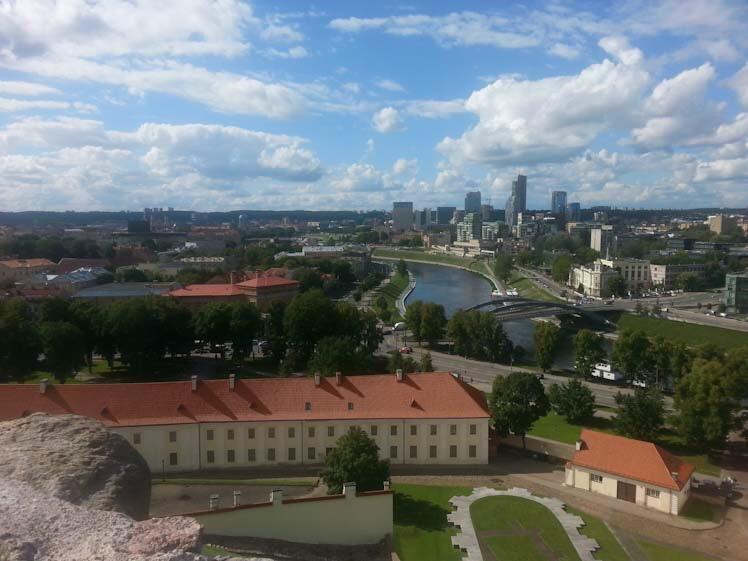 Panorama di Vilnius dal colle di Gedemia