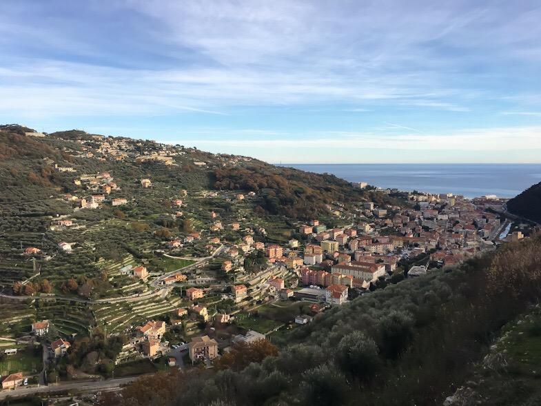 Panorama sulle colline da Castel Govone