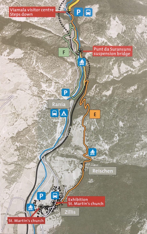 Mappa trekking viamala