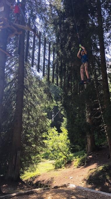 Parco avventura San bernardino percorso medio