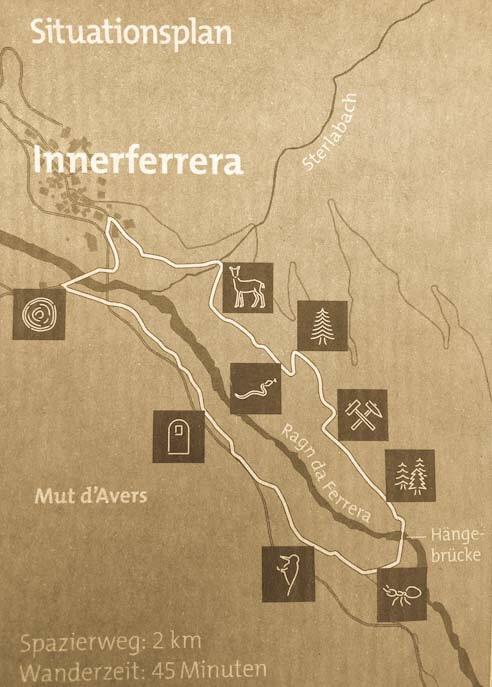 Mappa sentiero della foresta innerferrera