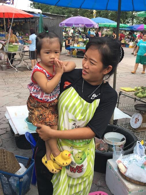 Tipico saluto thai