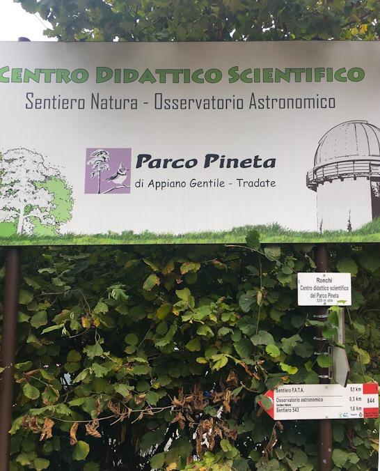 Ingresso al centro didattico scientifico e osservatorio astronomico di appiano gentile