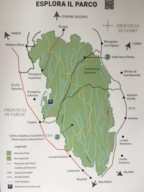 Mappa parco pineta di appiano gentile