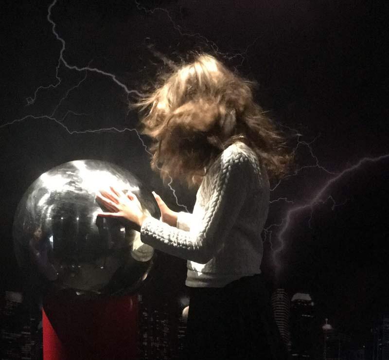 Generatore Van del Graaf alla Nikola Tesla Exhibition