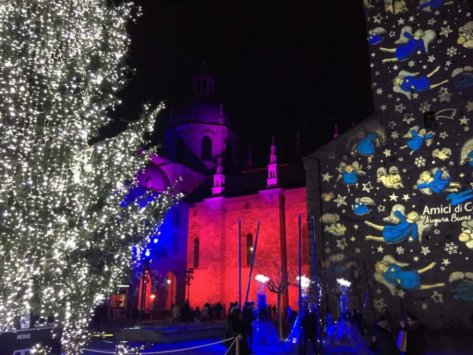 Magic light show a como città dei balocchi