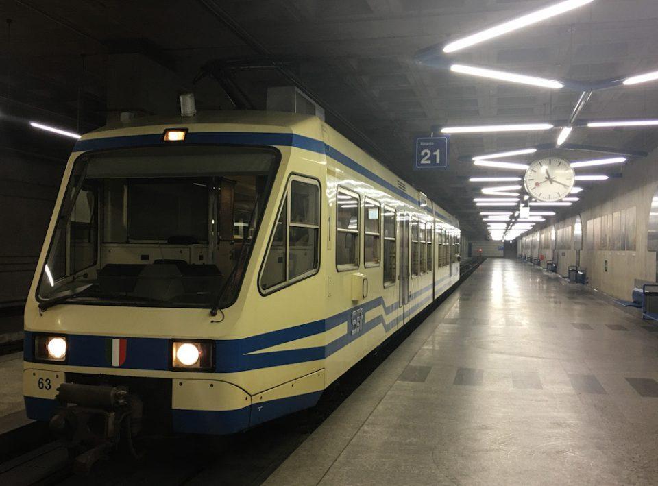 Stazione di arrivo della Ferrovia Vigezzina Centovalli a Locarno