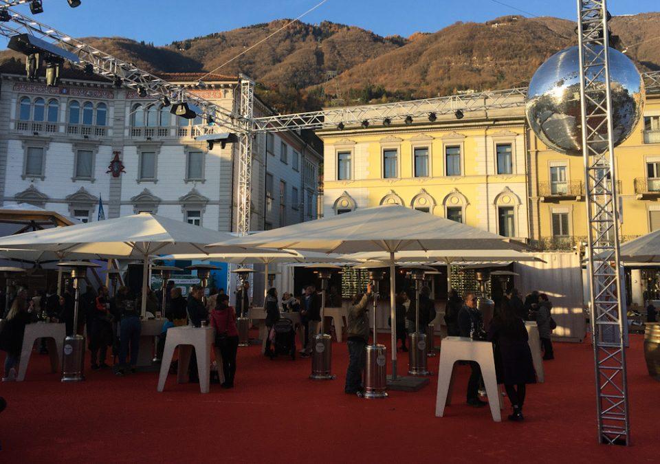 Piazza Grande a Locarno durante l'evento Locarno On Ice