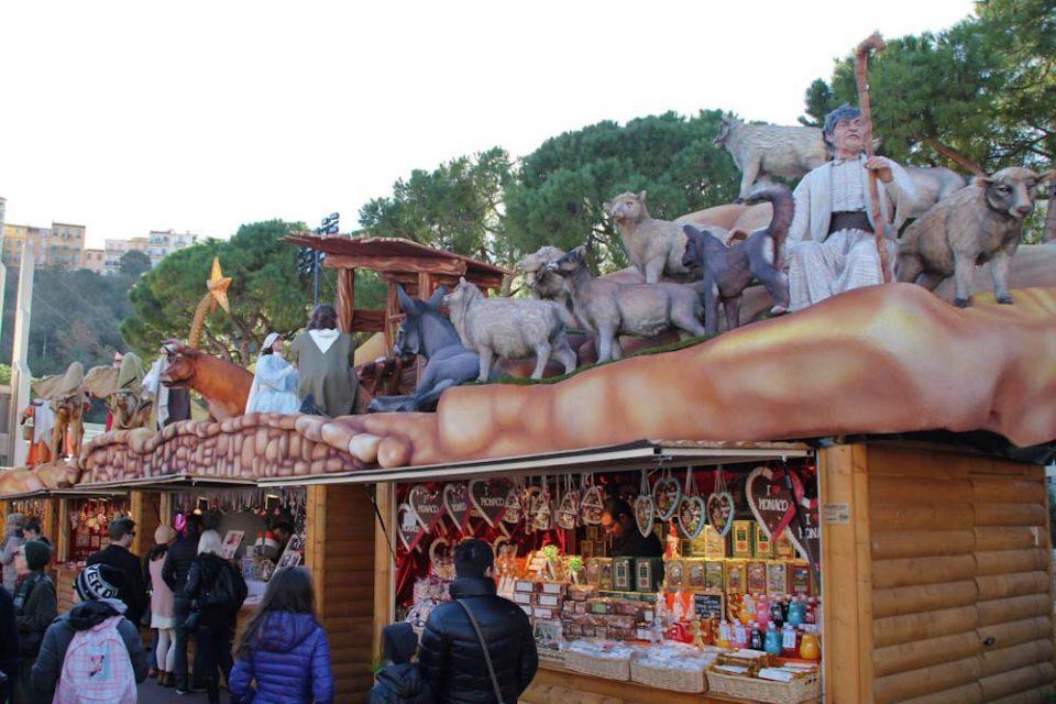 Principato di monaco, bancarelle mercatino di natale