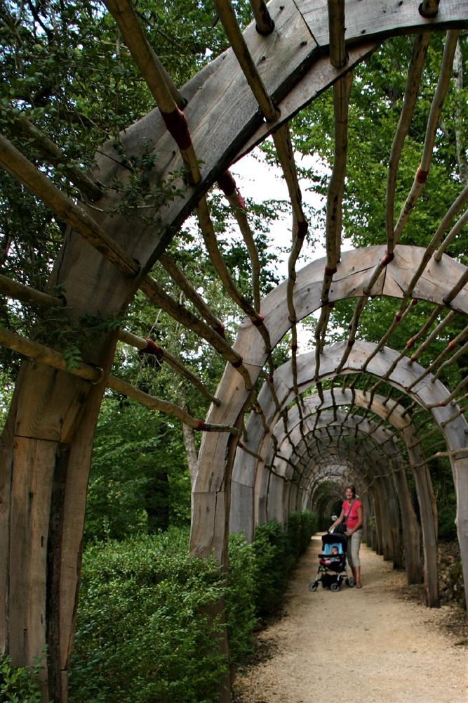 giardini di marqueyssac con il passeggino