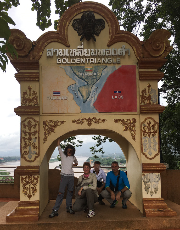 Triangolo d'Oro, punto di incontro fra Laos Birmania e Thailandia; punto finale dell'itinerario in Thailandia on the road