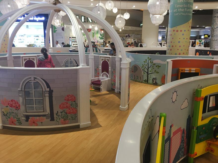 Area giochi per bambini all'aeroporto di Muscat,  scalo del nostro itinerario in thailandia