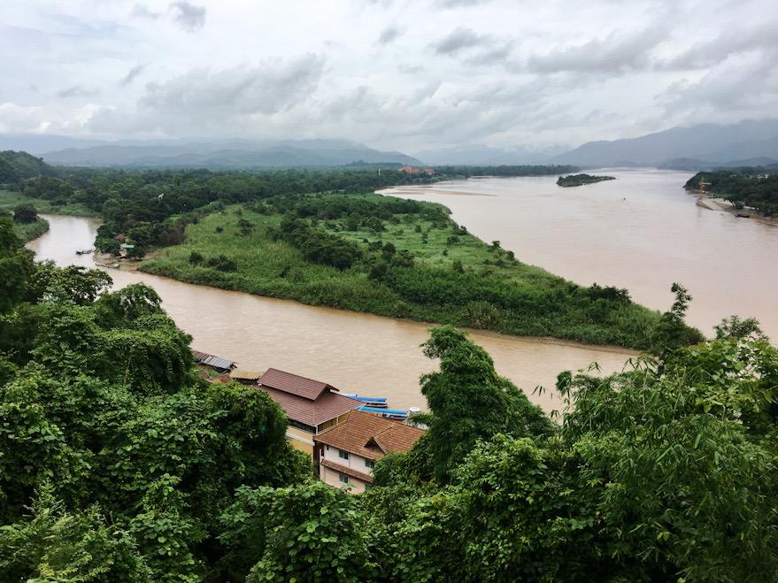 Il Triangolo d'Oro, confine fra Laos Birmania e Thailandia