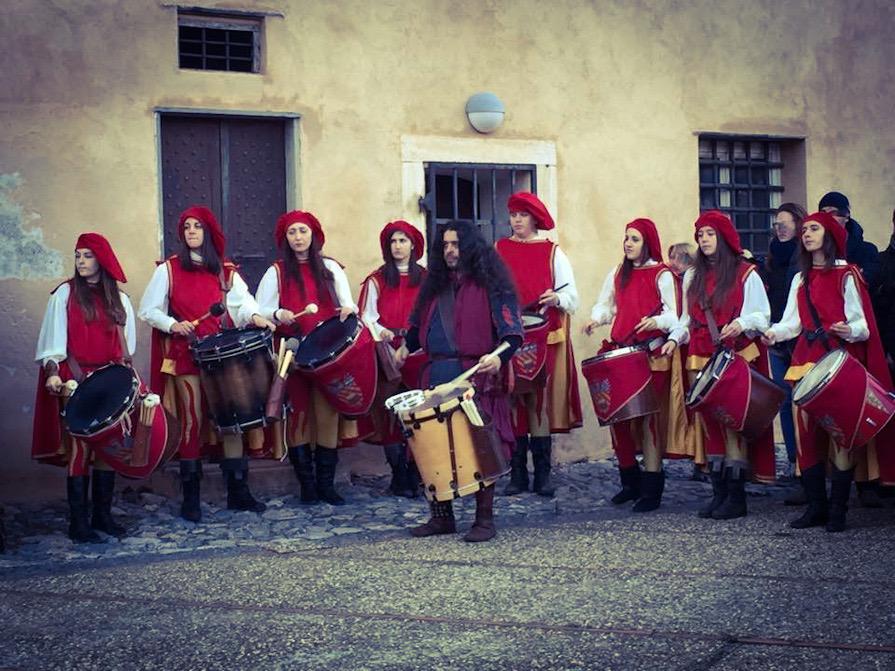 Tamburini di Finale Ligure alla rievocazione storica Dinô da Nüxe