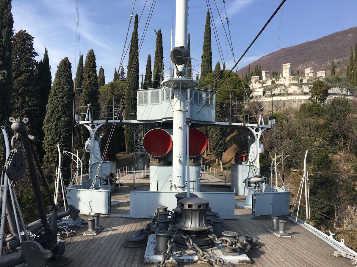 Regia Nave Puglia e Mausoleo a Il Vittoriale degli Italiani a Gardone Riviera