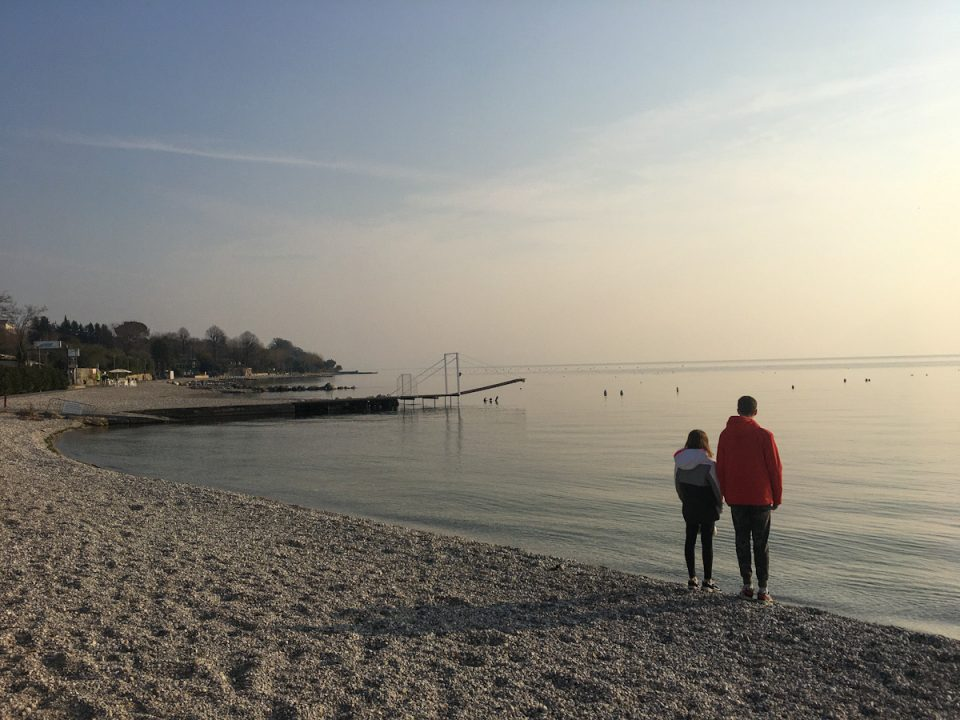 Spiaggia Moniga del garda sul lago di garda