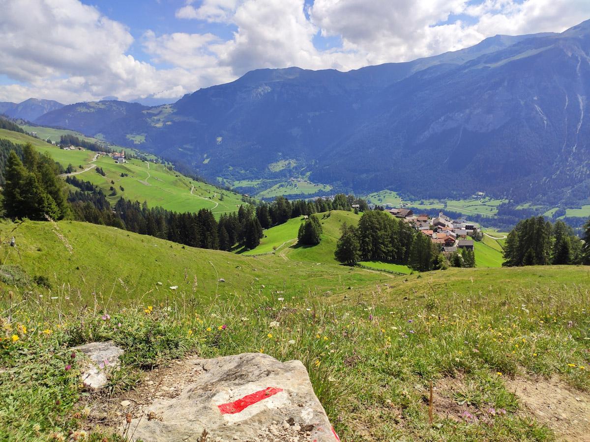 Sentiero degli Stambecchi, Capricorn Pirsch a Wergenstein. Trekking e passeggiate nel Cantone dei Grigioni in Svizzera.