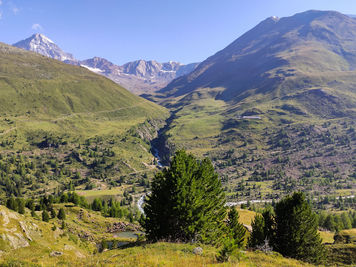 Panorama dal Ghiacciaio Forni sulle cime circostanti