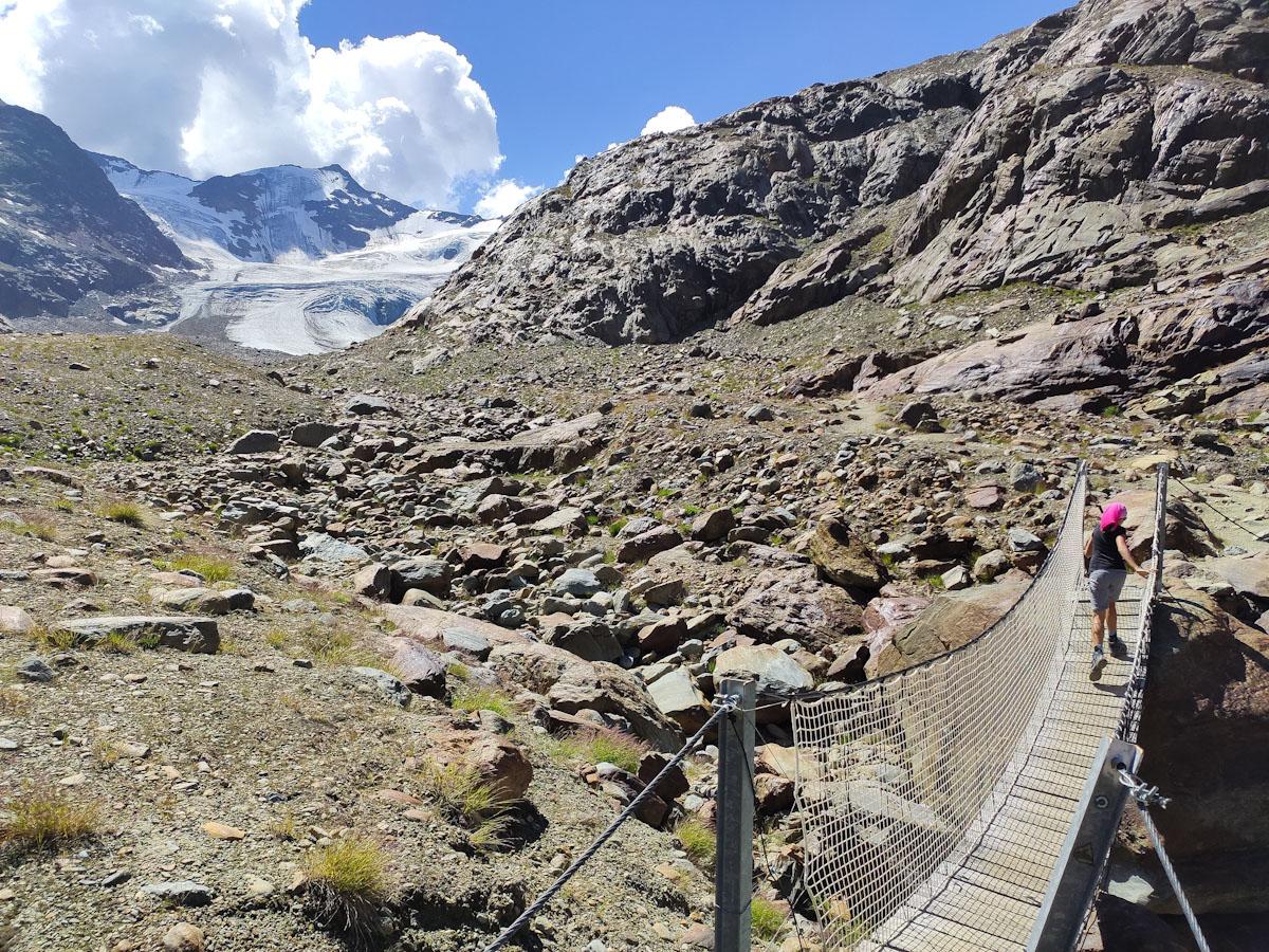 Ponte tibetano Ghiacciaio Forni
