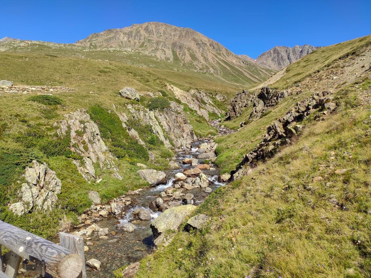Canyon scavato dal torrente in Val Viola