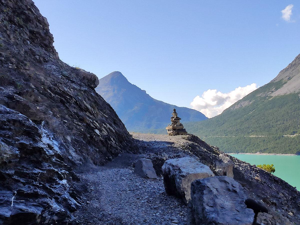 Deviazione al tunnel dei Laghi di Cancano