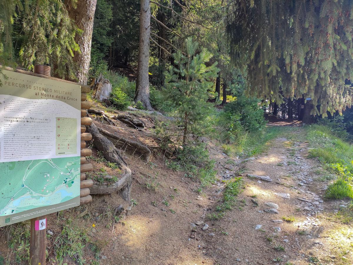 Deviazione da Pian di Gembro al sentiero storico-militare Monte Croce di Aprica