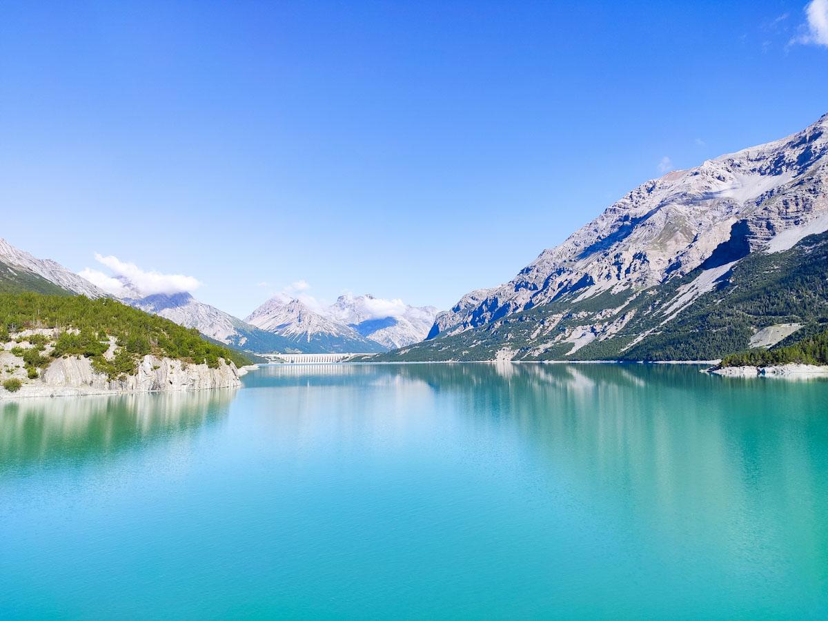 Lago di Cancano dalla diga