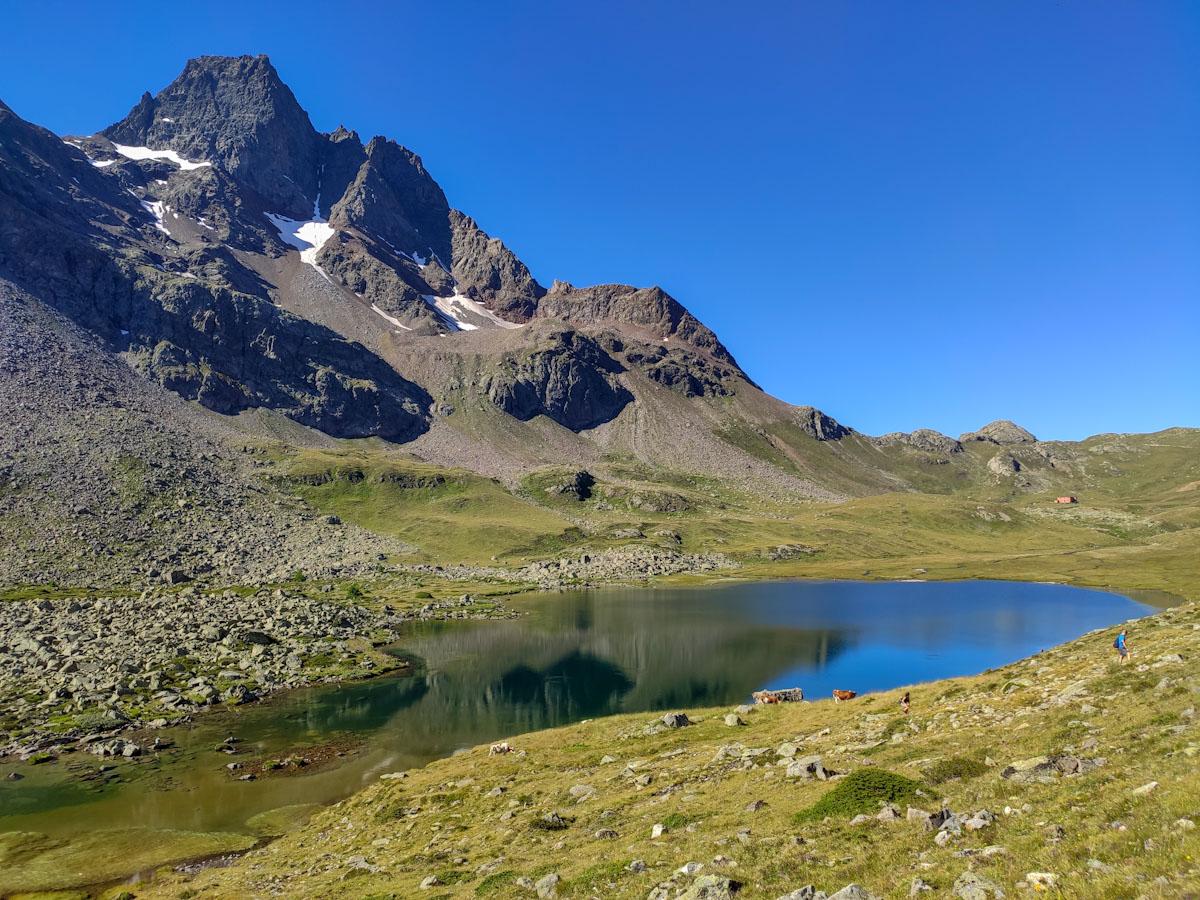 Laghetti lungo il sentiero verso il Rifugio Viola in Val Viola Bormina