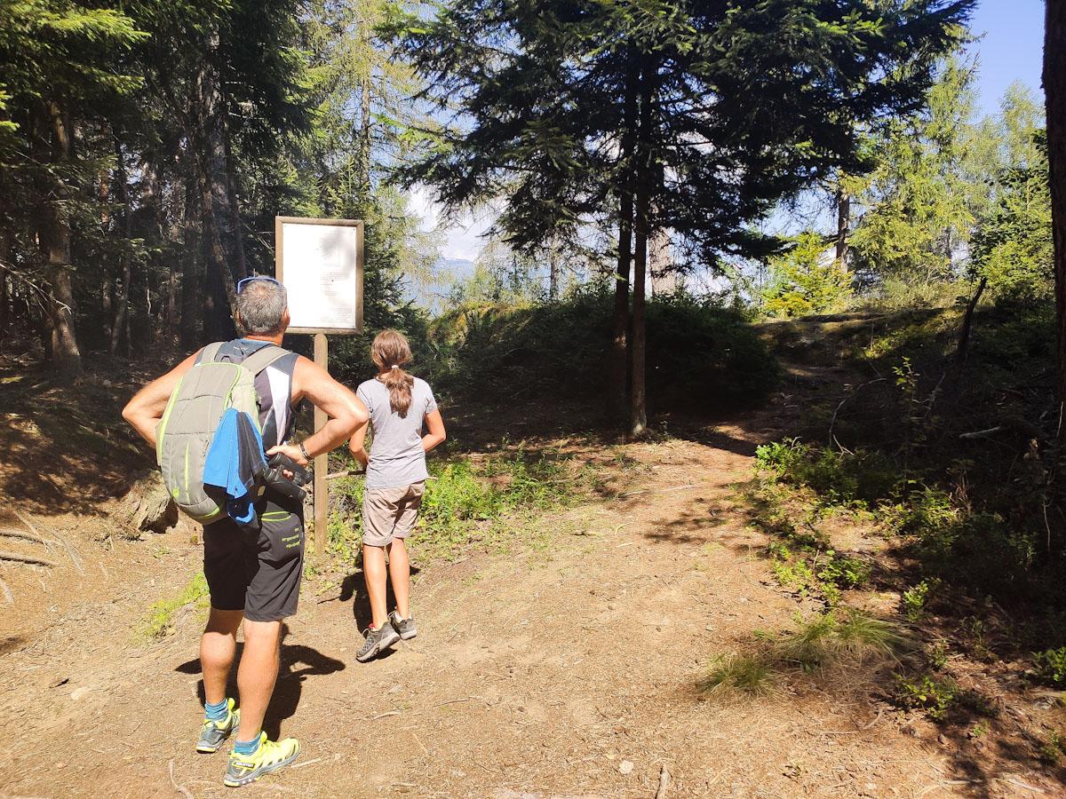 Monte Croce punto di arrivare sentiero storico-militare Monte Croce
