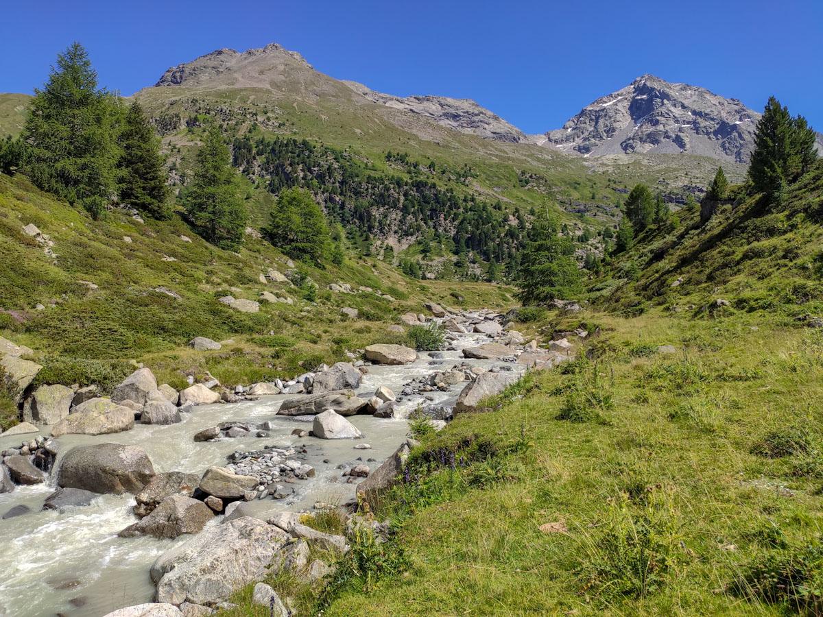 Il fiume Viola in Val Viola