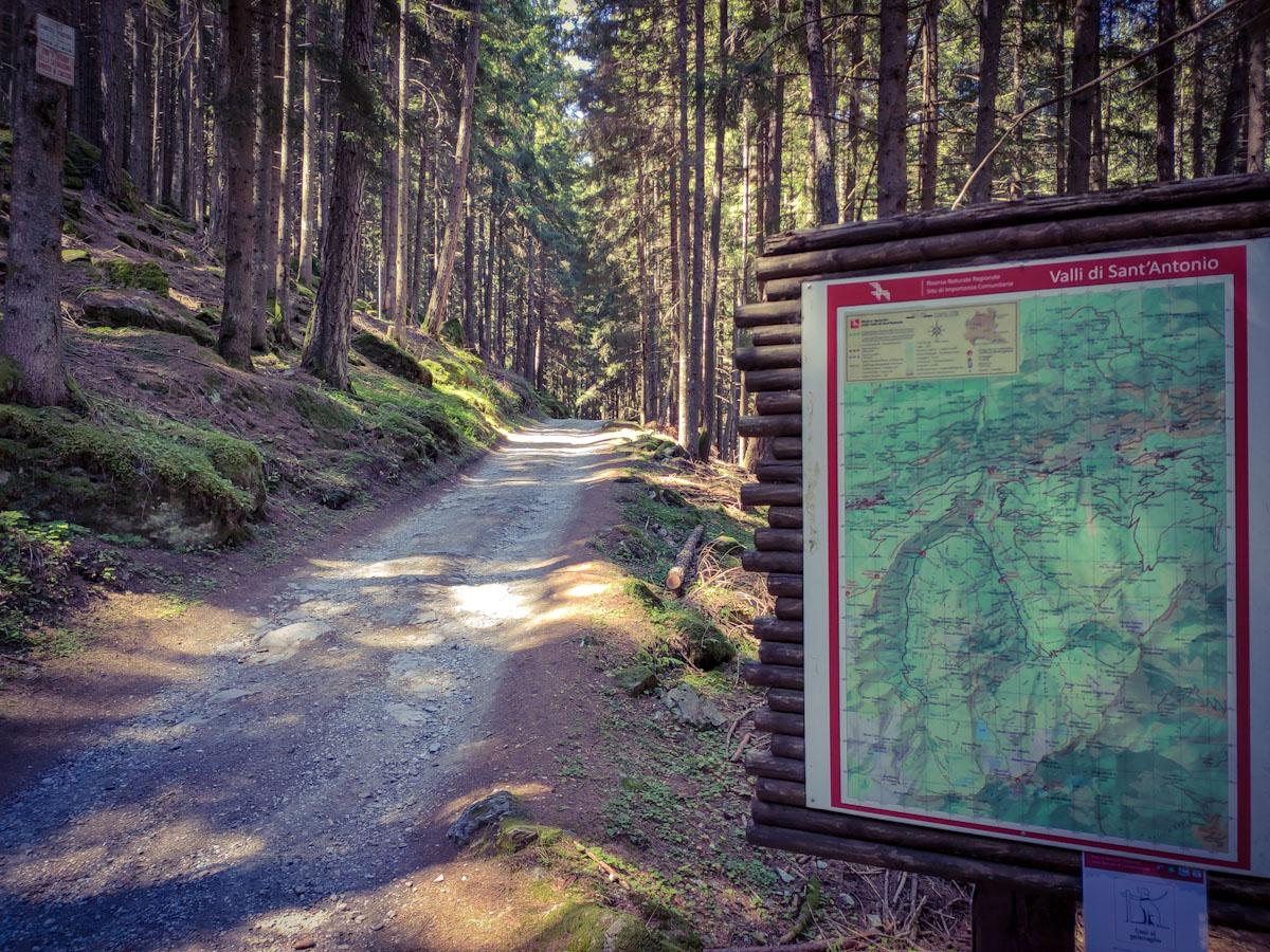 Giro delle Valli di Sant'Antonio, sentiero di collegamento tra Campovecchio e Val Brandét