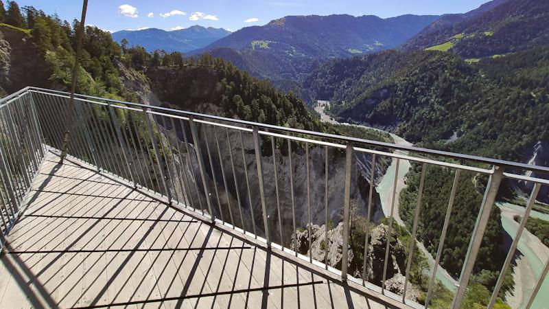 Gole del Reno dalla piattaforma panoramica Il Spir