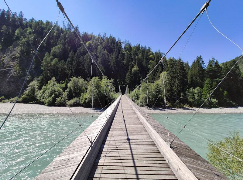 Ponte sospeso sul Reno presso Trim