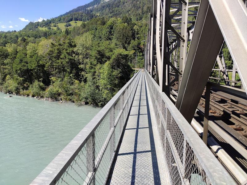 Sentiero sul ponte di Bonaduz Reichenau