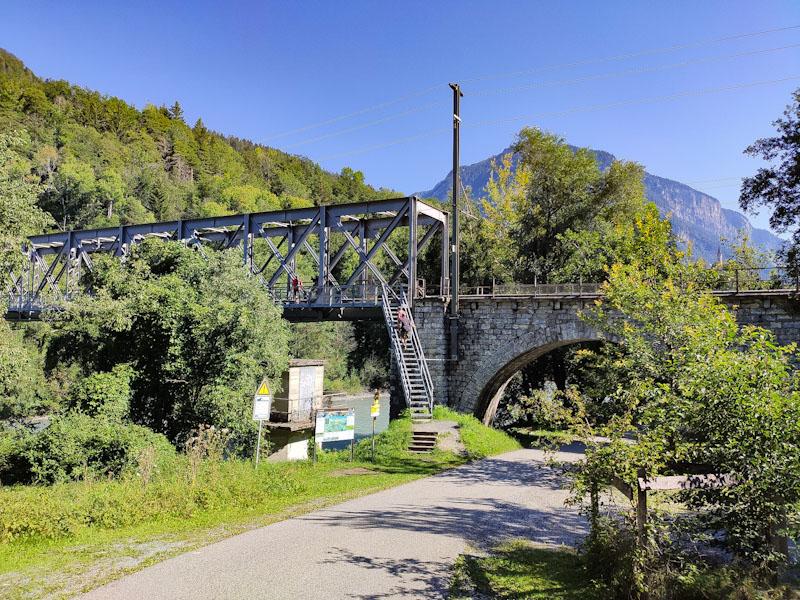 Gole del Reno ponte di ferro a Reichenau