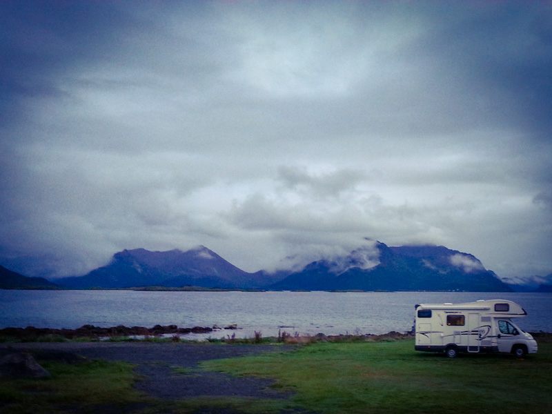 Camping a Myre di ritorno da Capo Nord