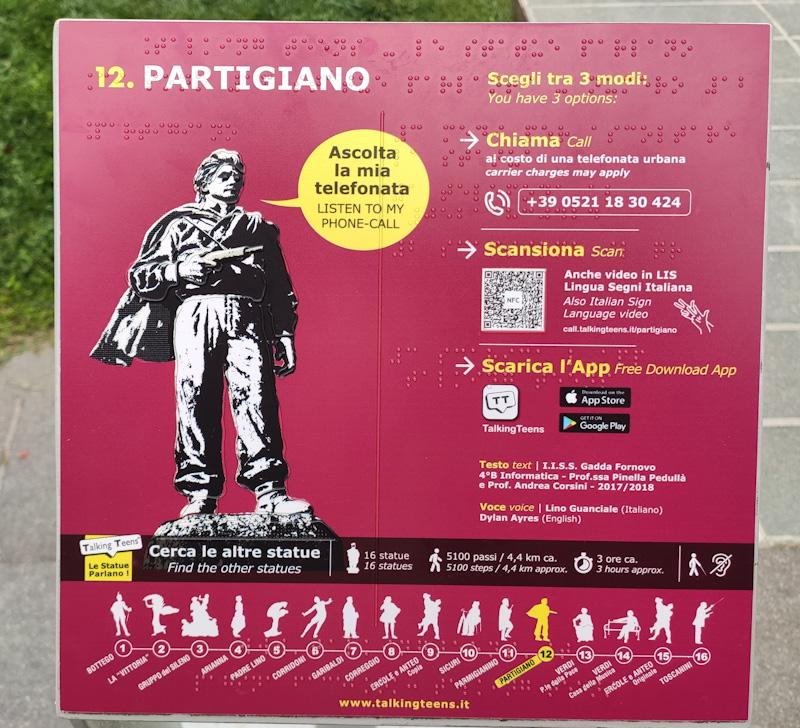App Talking Teens per scoprire le statue di Parma
