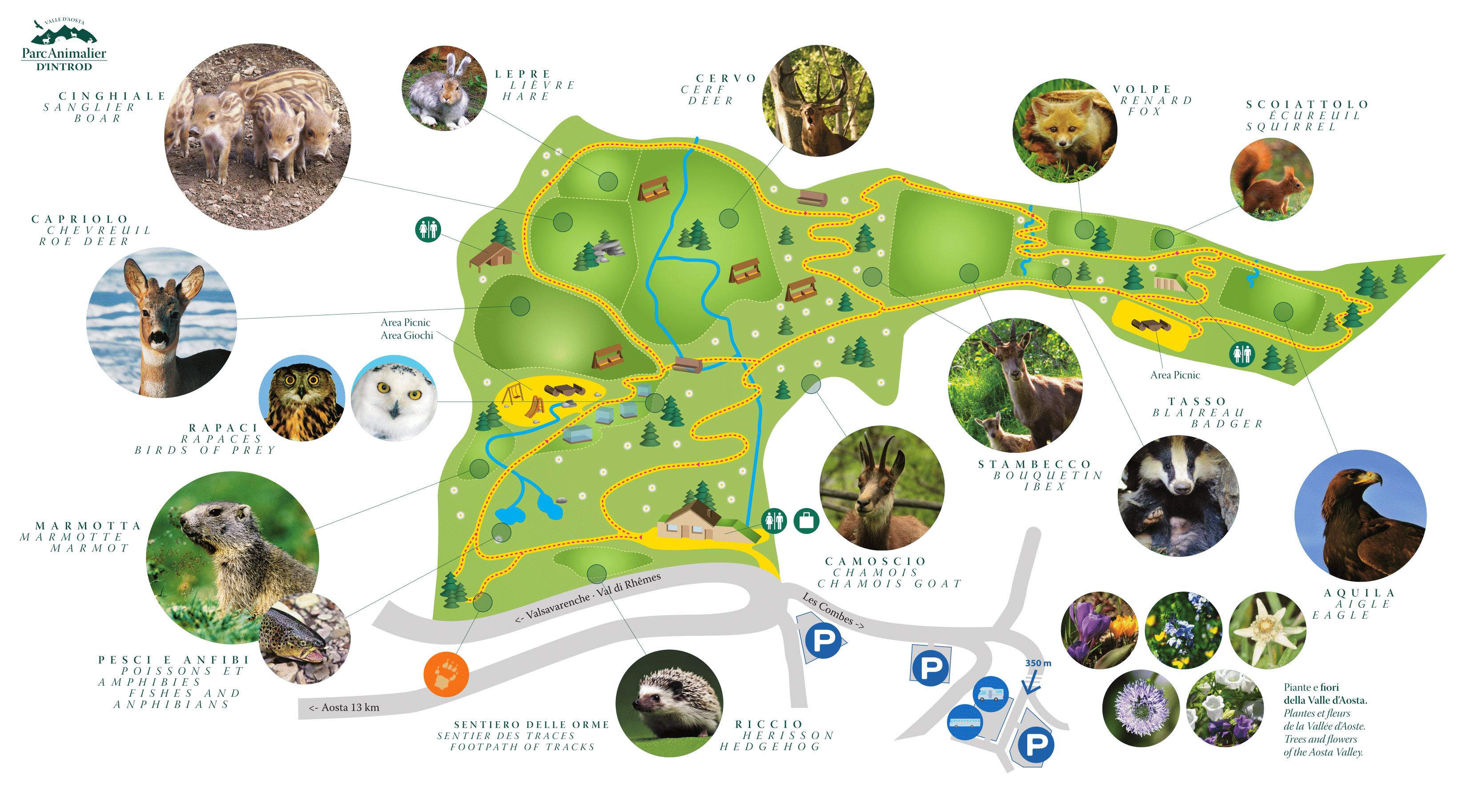 Mappa Parc Animalier d'Introd