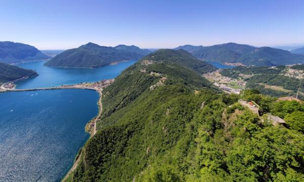 Monte San Salvatore: Lugano over the top
