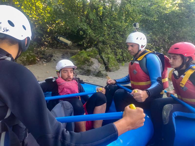 Briefing rafting sul Reno Anteriore