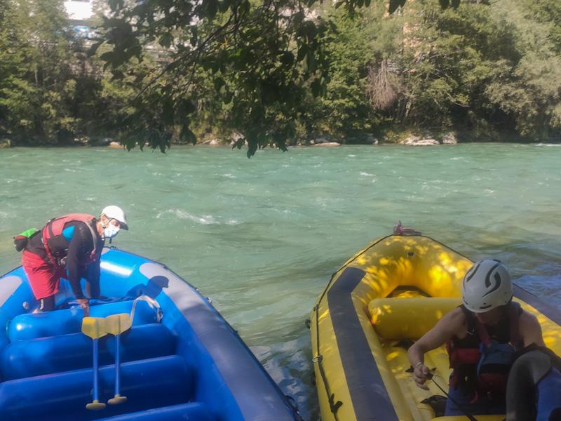 Partenza rafting Reno Anteriore da Ilanz